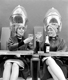 champagne ladies at the salon