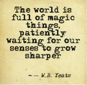 The world is full of magic things.